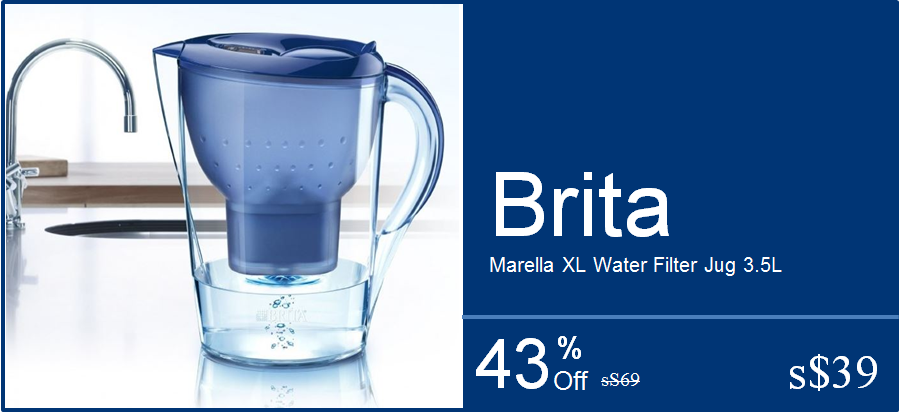 culinary table shopping spree brita marella xl water filter jug 3 5l ibonus by. Black Bedroom Furniture Sets. Home Design Ideas
